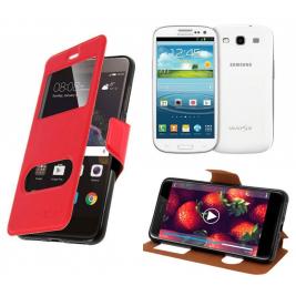 HOUSSE ETUI FOLIO SAMSUNG Galaxy S3 - i9300 (Rouge)