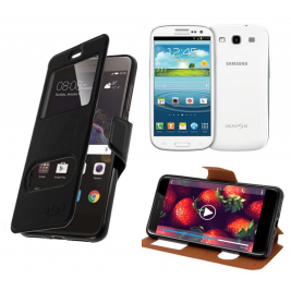 HOUSSE ETUI FOLIO SAMSUNG Galaxy S3 - i9300 (Noir)