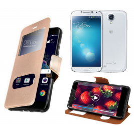HOUSSE ETUI FOLIO SAMSUNG Galaxy S3 - i9500 (Doré)