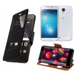 HOUSSE ETUI FOLIO SAMSUNG Galaxy S4 - i9500 (Noir)