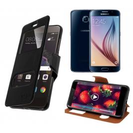 HOUSSE ETUI FOLIO SAMSUNG Galaxy S6 G-920 (Noir)