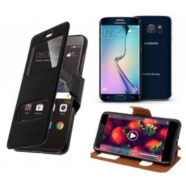 HOUSSE ETUI FOLIO SAMSUNG Galaxy S6 Edge (Noir)