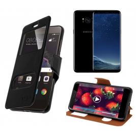 HOUSSE ETUI FOLIO SAMSUNG Galaxy S8 Plus (Noir)