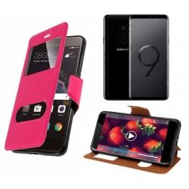 HOUSSE ETUI FOLIO SAMSUNG Galaxy S9 (Rose)