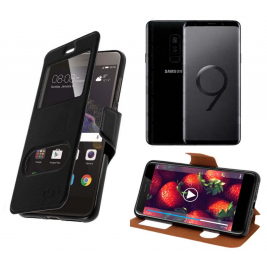 HOUSSE ETUI FOLIO SAMSUNG Galaxy S9 Plus (Noir)