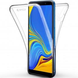 Coque 360 Degré Samsung Galaxy A7 2018 – Protection intégrale Avant + Arrière en Rigide, Housse Etui Tactile 360 degré