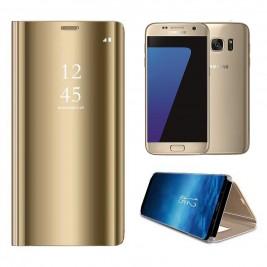 Etui Housse Clear View pour Samsung Galaxy S7 Noir