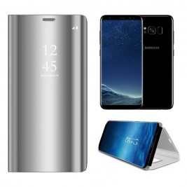 Etui Housse Clear View pour Samsung Galaxy S8 Gris