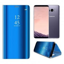 Etui Housse Clear View pour Samsung Galaxy S8 Plus Bleu