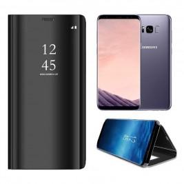 Etui Housse Clear View pour Samsung Galaxy S8 Plus Noir
