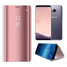 Etui Housse Clear View pour Samsung Galaxy S8 Plus Rose