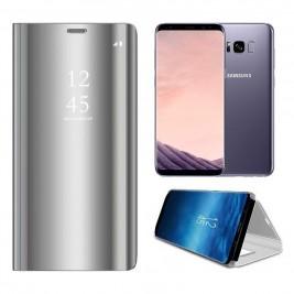 Etui Housse Clear View pour Samsung Galaxy S8 Plus Gris
