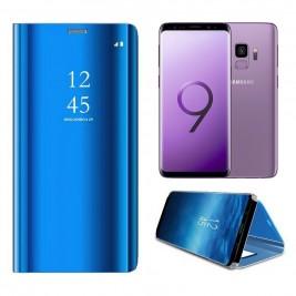 Etui Housse Clear View pour Samsung Galaxy S9 Bleu