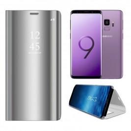 Etui Housse Clear View pour Samsung Galaxy S9 Gris