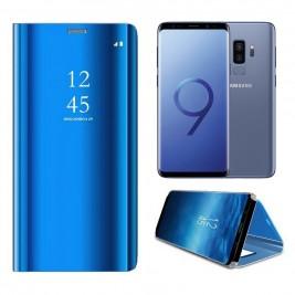 Etui Housse Clear View pour Samsung Galaxy S9 Plus Bleu