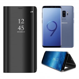 Etui Housse Clear View pour Samsung Galaxy S9 Plus Noir