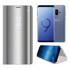 Etui Housse Clear View pour Samsung Galaxy S9 Plus Gris