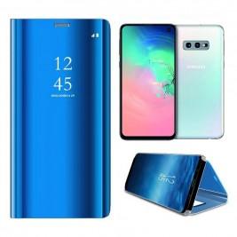 Etui Housse Clear View pour Samsung Galaxy S10 Lite Bleu