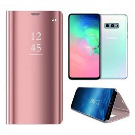 Etui Housse Clear View pour Samsung Galaxy S10 Lite Rose