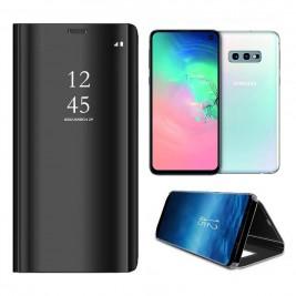 Etui Housse Clear View pour Samsung Galaxy S10 Lite Noir