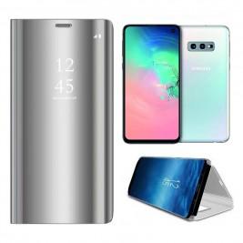 Etui Housse Clear View pour Samsung Galaxy S10 Lite  Gris
