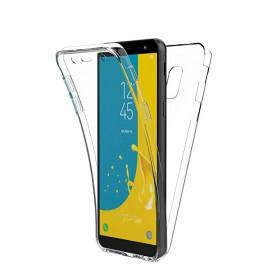 New&Teck Coque 360 Degré Samsung Galaxy J6 2018 – Protection en Rigide, Housse Etui Tactile 360 degré – Antichoc, Transparent