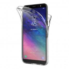 Coque 360 Degré Samsung Galaxy A6 2018 – Protection intégrale Avant + Arrière en Rigide, Housse Etui Tactile 360 degré