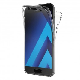 Coque 360 Degré Samsung Galaxy A5 2017 – Protection en Rigide, Housse Etui Tactile 360 degré – Antichoc, Transparent