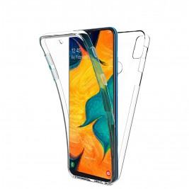 Coque 360 Degré Samsung Galaxy A20/A30 – Protection en Rigide, Housse Etui Tactile 360 degré – Antichoc, Transparent