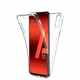Coque 360 Degré Samsung Galaxy A70 – Protection en Rigide, Housse Etui Tactile 360 degré – Antichoc, Transparent