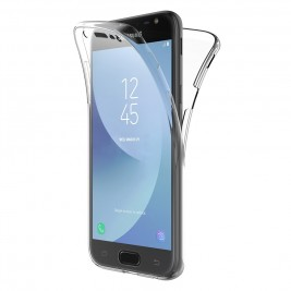 Coque 360 Degré Samsung Galaxy J3 2017 – Protection en Rigide, Housse Etui Tactile 360 degré – Antichoc, Transparent