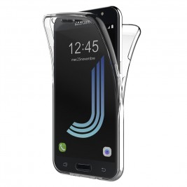 Coque 360 Degré Samsung Galaxy J5 2016 – Protection en Rigide, Housse Etui Tactile 360 degré – Antichoc, Transparent
