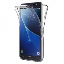 Coque 360 Degré Samsung Galaxy J7 2016 – Protection en Rigide, Housse Etui Tactile 360 degré – Antichoc, Transparent