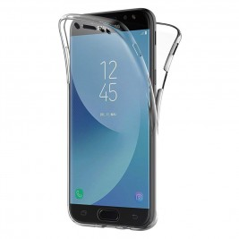 Coque 360 Degré Samsung Galaxy J7 2017 – Protection en Rigide, Housse Etui Tactile 360 degré – Antichoc, Transparent