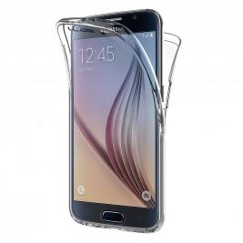 Coque 360 Degré Samsung Galaxy S6 – Protection en Rigide, Housse Etui Tactile 360 degré – Antichoc, Transparent