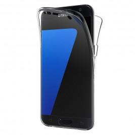 Coque 360 Degré Samsung Galaxy S7 – Protection en Rigide, Housse Etui Tactile 360 degré – Antichoc, Transparent