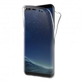 Coque 360 Degré Samsung Galaxy S8 – Protection en Rigide, Housse Etui Tactile 360 degré – Antichoc, Transparent