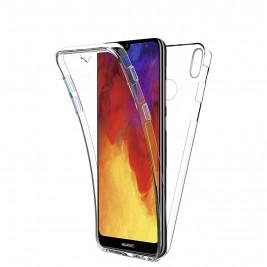 New&Teck® Coque Huawei Y6 2019 – Protection intégrale Avant + arrière en Rigide, Housse Etui Tactile 360 degré