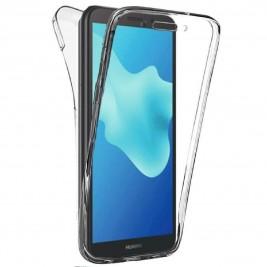 New&Teck® Coque Huawei Y5 2018 – Protection intégrale Avant + arrière en Rigide, Housse Etui Tactile 360 degré