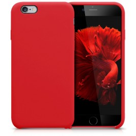 Coque iPhone 6G/S en Silicone Liquide Anti-Rayure Rouge