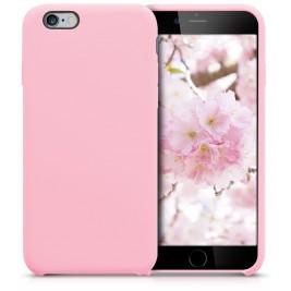 Coque iPhone 6G/S en Silicone Liquide Anti-Rayure Rose