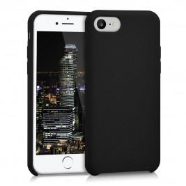Coque iPhone 7G/8G en Silicone Liquide Anti-Rayure Noir
