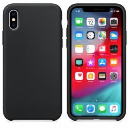 Coque iPhone X/XS en Silicone Liquide Anti-Rayure Noir