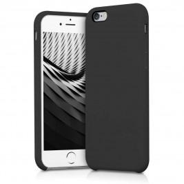 Coque iPhone 6G/S en Silicone Liquide Anti-Rayure Noir