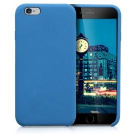 Coque iPhone 6G/S  Plus en Silicone Liquide Anti-Rayure Bleu