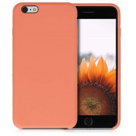 Coque iPhone 6G/S Plus en Silicone Liquide Anti-Rayure Papaye