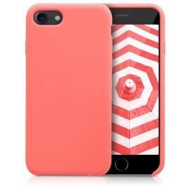 Coque iPhone 7G/8G en Silicone Liquide Anti-Rayure Corail