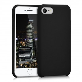 Coque iPhone 7G/8G Plus en Silicone Liquide Anti-Rayure Noir