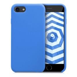 Coque iPhone 7G/8G Plus en Silicone Liquide Anti-Rayure Bleu