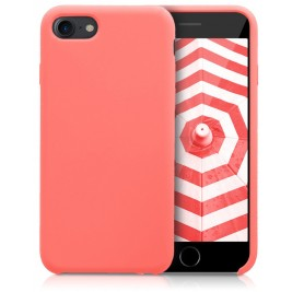Coque iPhone 7G/8G Plus en Silicone Liquide Anti-Rayure Corail